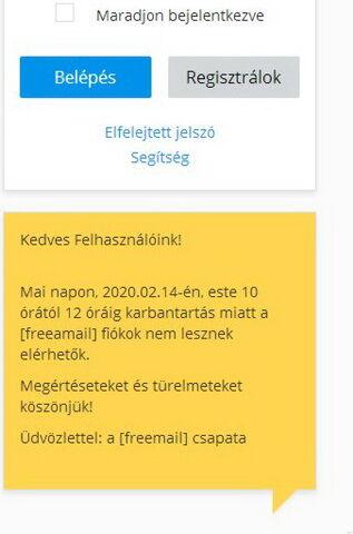 Hu freemail bejelentkezés fentonia.com